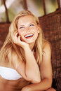 Gorgeous giggle Royalty Free Stock Photography