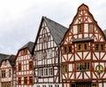 Gorgeous half-timbered house skyline in historic Limburg Royalty Free Stock Photo