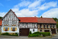 Gorgeous Half-Timbered Houses in Germany Royalty Free Stock Photo