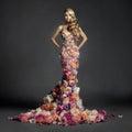 Dama en vestir de flores