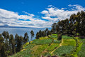 Gorgeous landscape of isla del sol bolivia Royalty Free Stock Photography