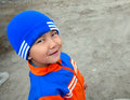 Gorgeous little Kazak boy Stock Photo