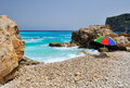 Gorgeous mediterranean beach in summer Royalty Free Stock Photo