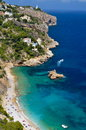 Gorgeous mediterranean coast in summer sunny day Stock Photos