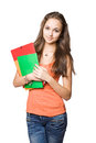Gorgeous serene young student girl. Royalty Free Stock Image