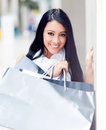 Gorgeous shopping girl Royalty Free Stock Images