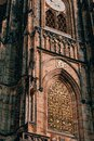 Gorgeous view of Gothic capel  cathedral , Monument of German Roman  Catholicism Neogothic architecture .the Catholic St. Vitus, Royalty Free Stock Photo