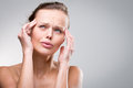 Gorgeous young woman with severe headache/migraine Royalty Free Stock Photo