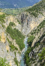 Gorges de guil canyon in haute alpes provence alpes cote d azur france at summer Stock Photography
