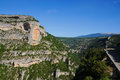Gorges de la nesque canyon provence with view on mont ventoux Royalty Free Stock Images
