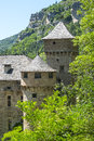 Gorges du tarn castle lozere linguedoc roussillon france famous canyon at summer historic Royalty Free Stock Photography