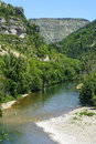 Gorges du tarn lozere linguedoc roussillon france famous canyon at summer Stock Photo