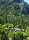 Gorges du tarn lozere linguedoc roussillon france famous canyon at summer road and historic village Stock Photos