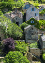 Gorges du tarn village lozere linguedoc roussillon france famous canyon at summer historic Royalty Free Stock Photos