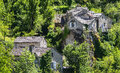 Gorges du tarn village lozere linguedoc roussillon france famous canyon at summer historic Royalty Free Stock Photography