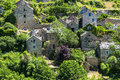 Gorges du tarn village lozere linguedoc roussillon france famous canyon at summer historic Royalty Free Stock Images