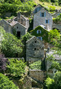 Gorges du tarn village lozere linguedoc roussillon france famous canyon at summer historic Stock Photography