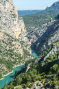 Gorges du verdon alpes de haute provence provence alpes cote d azur france famous canyon Royalty Free Stock Photo
