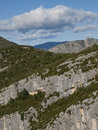 The gorges du verdon in france famous canyon alpes de haute provence Stock Photography