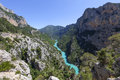 Gorges du verdon provence in france europe Royalty Free Stock Images