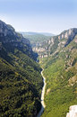 Gorges du verdon view into canyon haute provence france Royalty Free Stock Photo