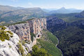 Gorges du verdon view into canyon haute provence france Stock Photography