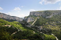 Gorges du verdon view into canyon haute provence france Stock Photos
