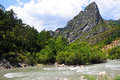 Gorges du verdon view into canyon haute provence france Stock Image