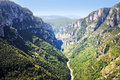 Gorges du verdon view into canyon haute provence france Royalty Free Stock Images