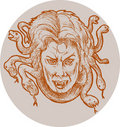 Gorgon female monster Medusa Stock Photography
