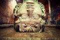 Gorgon medusa or medusa s head the basilica cistern is the largest of several hundred ancient water reservoirs that still lie Royalty Free Stock Images