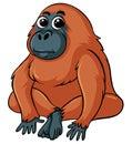 Gorilla with brown fur