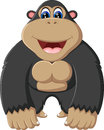 Gorilla cartoon Royalty Free Stock Photo