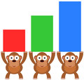 Gorilla graph illustration of gorillas carrying and forming a bar Royalty Free Stock Photos