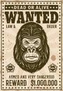 Gorilla Head Wanted Poster In ...