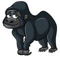 Gorilla with sad smile
