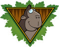 Gorilla Safari Icon Stock Images