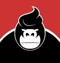 Gorilla serious face with a stylish hairdo Royalty Free Stock Image