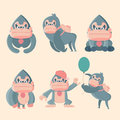 Gorilla set poses.