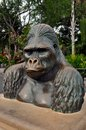 Gorilla statue at san diego zoo close up view of a beautiful the entrance of Stock Photography