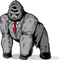 Gorilla in suit Stock Images