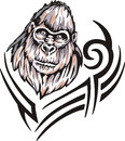 Gorilla tattoo Royalty Free Stock Photos