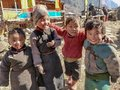 stock image of  4 sherpa kids playing