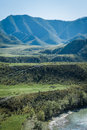 Gorny altai deep spaces of the mountains Royalty Free Stock Image