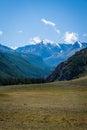 Gorny altai snow capped mountains of Royalty Free Stock Photo