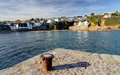 Gorran haven cornwall england the seaside village of uk europe Stock Image