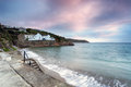Gorran haven dawn at on the south coast of cornwall Stock Photo