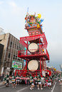 Goshogawara tachi neputa standing float festival aomori japan august this is version held every year in Stock Photography