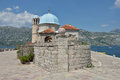 Gospa Od Skprjela and Sveti Djordje islands Montenegro Stock Photography