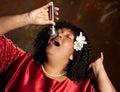 Gospel singer Royalty Free Stock Photo
